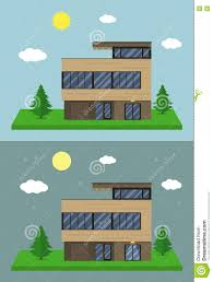 House Flat Design by Cottage House Building Flat Design Style Modern House Vector