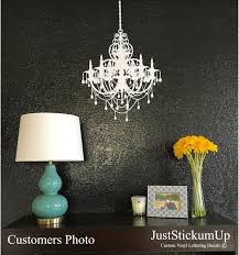 chandelier french paris wall art vinyl letters decals zoom