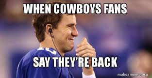 Giants Cowboys Meme - 31 best memes of eli manning the new york giants beating dak