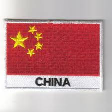 China Flags Embroidered Patches Country Flag China Patches Iron On Badges