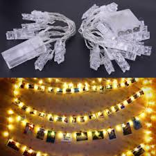 string lights with picture clips 10 20 led card photo clips string lights wedding party home