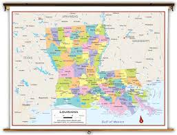 Louisiana Parish Map by Louisiana State Political Classroom Map From Academia Maps