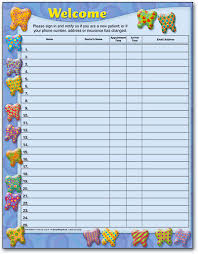 Doctors Sign In Sheet Template Dental Patient Sign In Forms Create A Warm Welcome Smartpractice