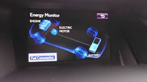 lexus hybrid how does it work lexus rx450h energy monitor explained youtube