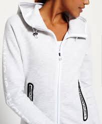 superdry dresses shop womens superdry gym tech zip hoodie ice