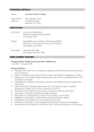 Sample Financial Resume by Sample Resume For Investment Banking Analyst Free Resume Example