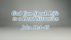 Coming Home Quotes by God Can Speak Life To A Dead Situation U201d John 11 1 45 On Vimeo