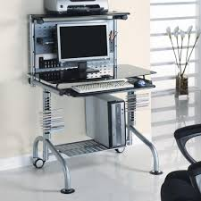 Black Glass Computer Desk Planing Compact Computer Desk For Small Place U2014 The Decoras