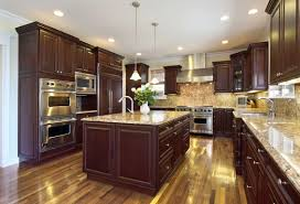 chestnut kitchen cabinets merlot