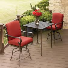 Metal Patio Furniture Sets Hton Bay Oak Cliff Metal Outdoor Balcony Height Bistro