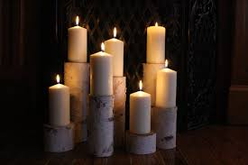 decorating simply fireplace candelabra with seven candles for