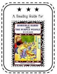 reading guide for horrible harry and the purple