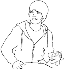 best ideas of coloring pages of justin bieber to print about