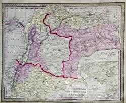 Map Of Venezuela Map Of Venezuela New Granada And Ecuador 1852