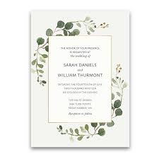 wedding invitations greenery bohemian wedding invitations boho chic greenery gold