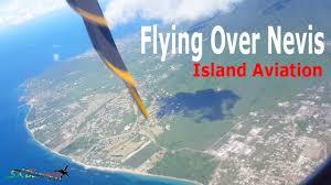 flying over nevis liat atr 72 600 youtube