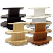display tables for boutique sts store fixtures 3 tier oval display table