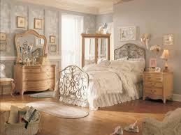 furniture rustic round framed twin mirror above headboard