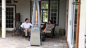 Living Flame Patio Heater by Firesense Stainless Steel Pyramid Patio Heater Item 60523 Youtube