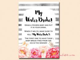 my water baby shower my water cube baby cube watercolor