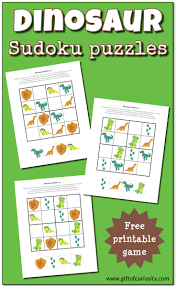 dinosaur sudoku puzzles free printables gift of curiosity