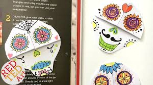 easy skull bookmark diy sugar skull day of the dead