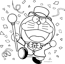 doraemon coloring pages wecoloringpage