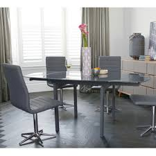 lexington extending dining table grey glass dwell
