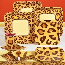 leopard print party supplies birthday decorations leopard