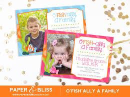 Family Day Invitation Card O U0027fish Ally A Family Adoption Party Invitation Blue