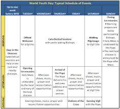 world youth day schedules worldyouthday