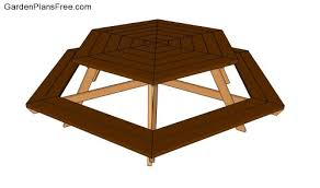 Hexagon Wood Picnic Table Plans by Garden Bench Designs Free Garden Plans How To Build Garden