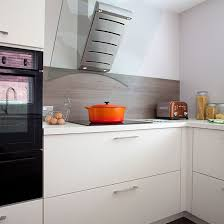White Gloss Kitchen Ideas White Gloss Kitchen With Glass Extractor Fan Kitchen Decorating