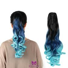 ponytail hair extensions claw style 20 hair extensions clip synthetic ponytail hair ombre
