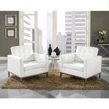White Leather Armchairs White Tufted Arm Chairs Foter