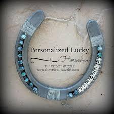 personalized horseshoe turquoise marble personalized horseshoe by thevelvetmuzzle