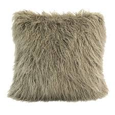 Faux Fur Throw Rugs Fur Throw Blankets Of Faux Mongolian Hair In Taupe