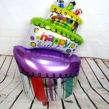 large birthday balloons 98 55cm large birthday cake gift cake aluminum foil balloons happy