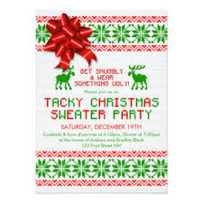 ugly christmas sweater party invitations zazzle