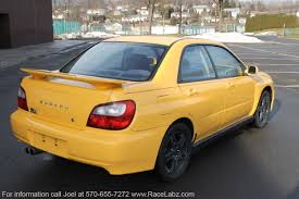 subaru yellow 2003 subaru wrx u2013 7 850 u2013 only 93k miles 5 speed rare yellow
