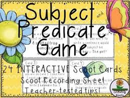 the 25 best subject and predicate games ideas on pinterest