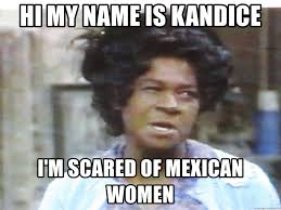 Hi My Name Is Meme - hi my name is kandice i m scared of mexican women aunt esther