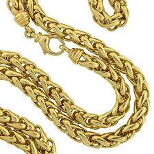 gold braided rope necklace images Estate 14kt gold braided rope chain necklace 36 quot a brandt son jpg