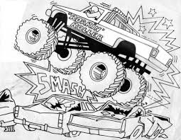 monster truck coloring pages free intended to motivate to color