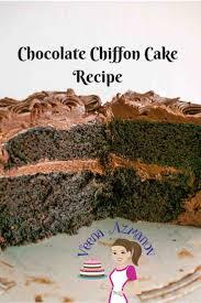 best 25 chocolate chiffon cake ideas on pinterest chiffon cake