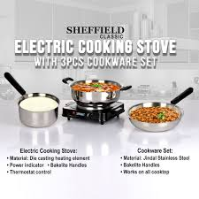Best Cooktops India Buy Electric Cooking Stove With Cookware Set Online At Best Price