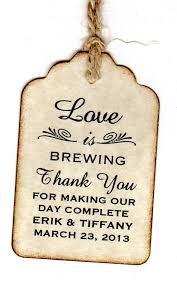 chagne wedding favors 50 personalized is brewing wedding favor tags place cards