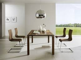 two brown backrest dining chair modern dining room table white
