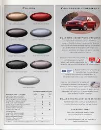 taurus colors 1997 taurus brochure sho extract