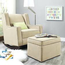 Upholstered Rocking Chair With Ottoman Rocker Chair With Ottoman Beige Ottoman With Beige Upholstered
